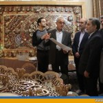 استاندار یزد از آثار هنری «عزیز الله اخوان کفاش» بازدید کرد