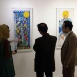 بازدید مدیر کل صدا و سیما مرکز یزد از نمایشگاه آثار سارا رضایی
