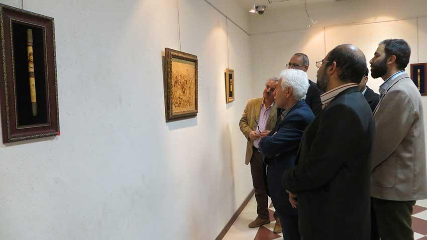 گشایش نمایشگاه آثار هنرمند جانباز یزدی در نگارخانه حوزه هنری