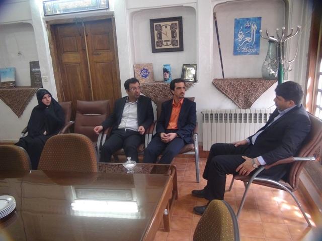 حضور معاون سیاسی، امنیتی و اجتماعی استاندار در مرکز اسناد و کتابخانه ملی استان یزد