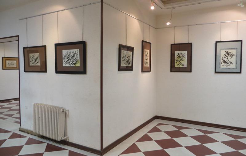 نمایشگاه آثار سیاه مشق استاد رضا زدوار در یزد