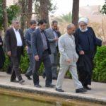 در آستانه فرارسیدن سال نو استاندار یزد از باغ جهانی دولت آباد بازدید کرد